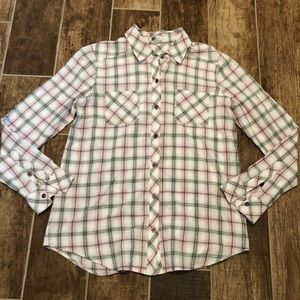 KUT FROM THE KLOTH Plaid SHIRT Small Button Down S